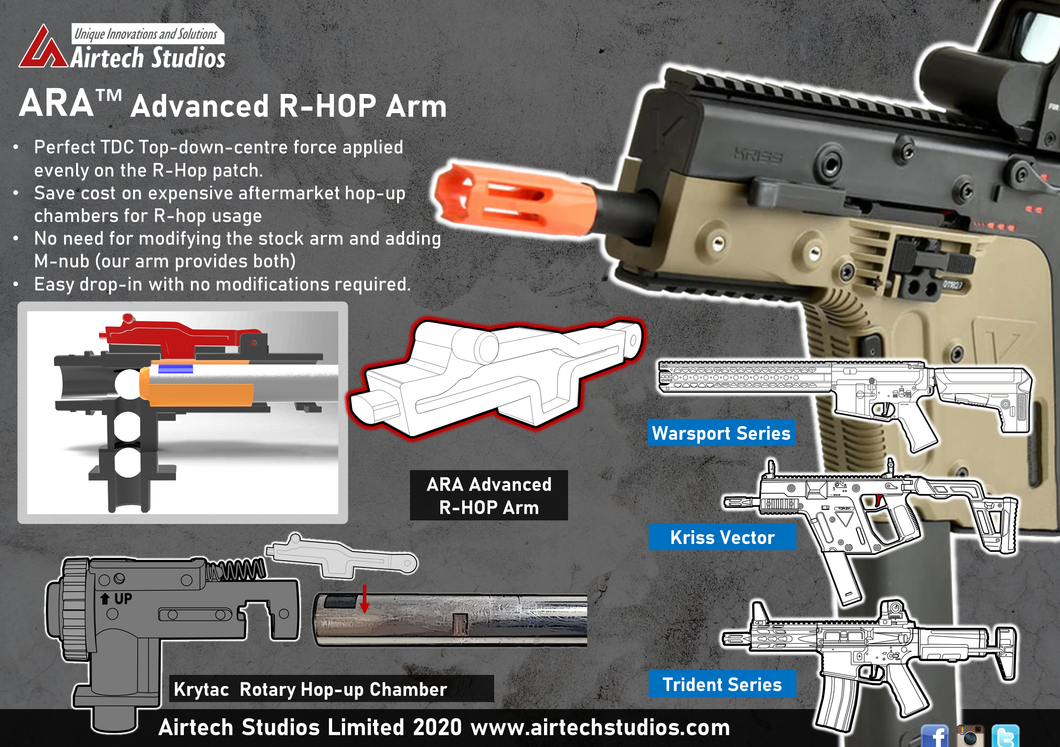 Krytac M4 Hop-up Chamber - Modified R-HOP Arm