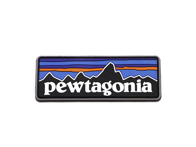 Pewtagonia Morale Patch - Velcro