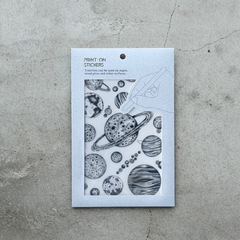 [Discontinued Item] MU Print-On Stickers - Natural Science/ 3pcs Gift Set