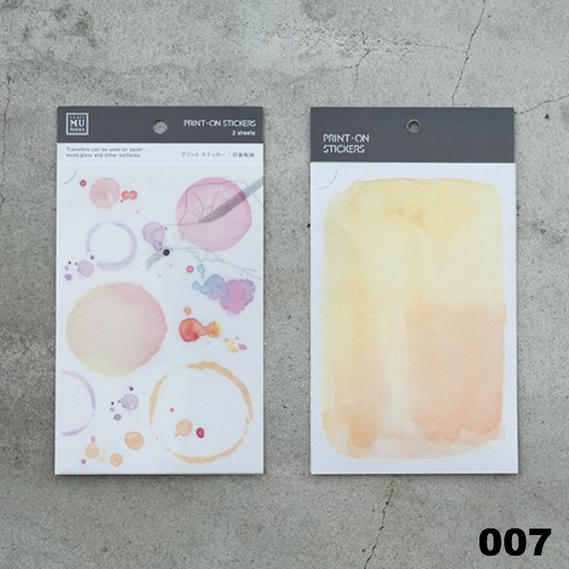 MU Print-On Sticker - Colour Series
