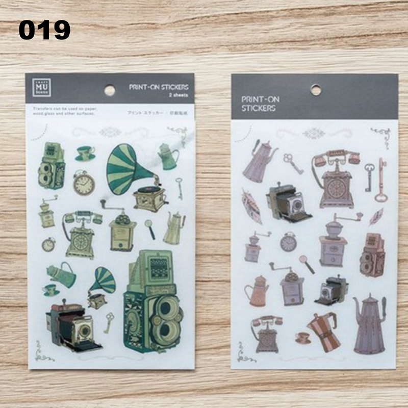 [Temporary Discontinued] MU Print-On Sticker - Vintage Series