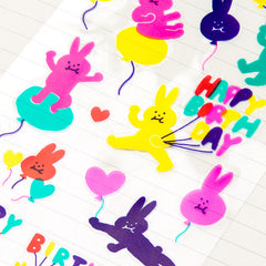 Bunny Balloons Stickers