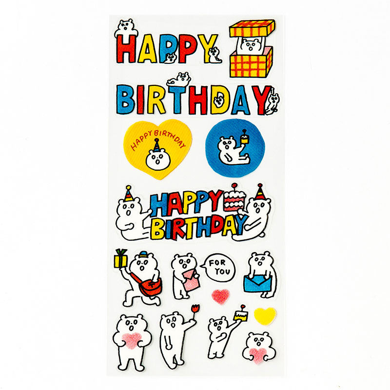 Kuma Birthday Stickers
