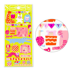 Animal Birthday Stickers