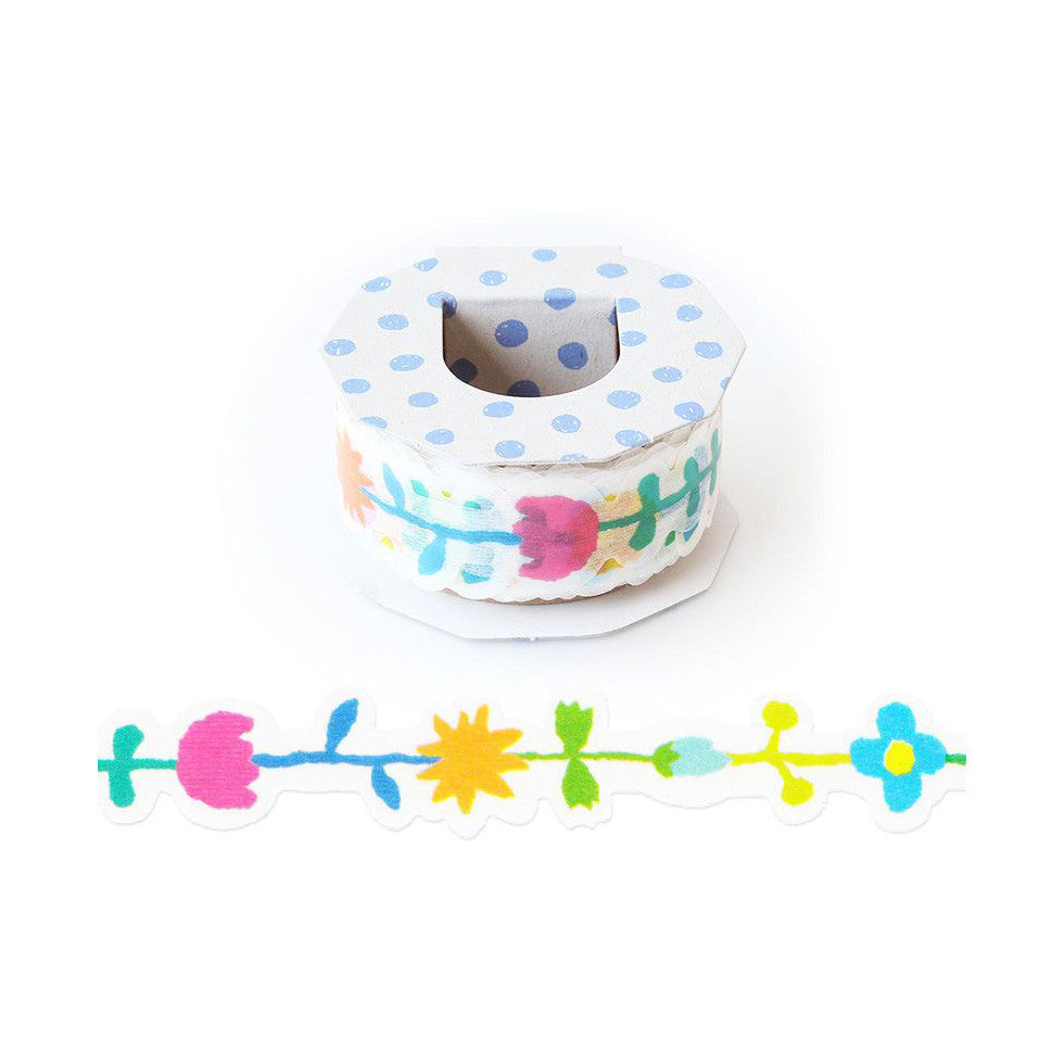 [Discontinued Item] AIUEO Flowers Washi Tape