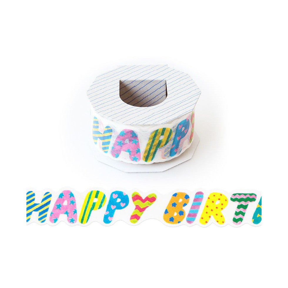 AIUEO Happy Birthday 02 Washi Tape