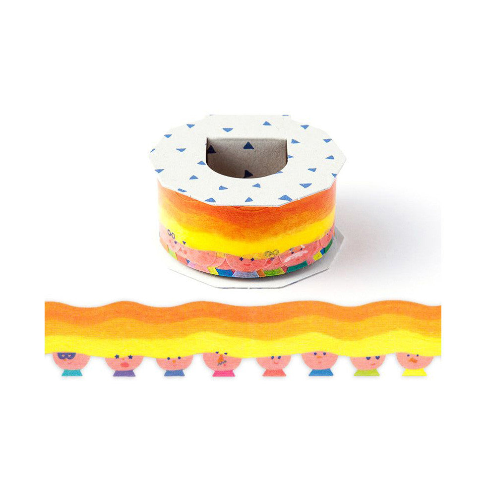 AIUEO Long Hair Washi Tape