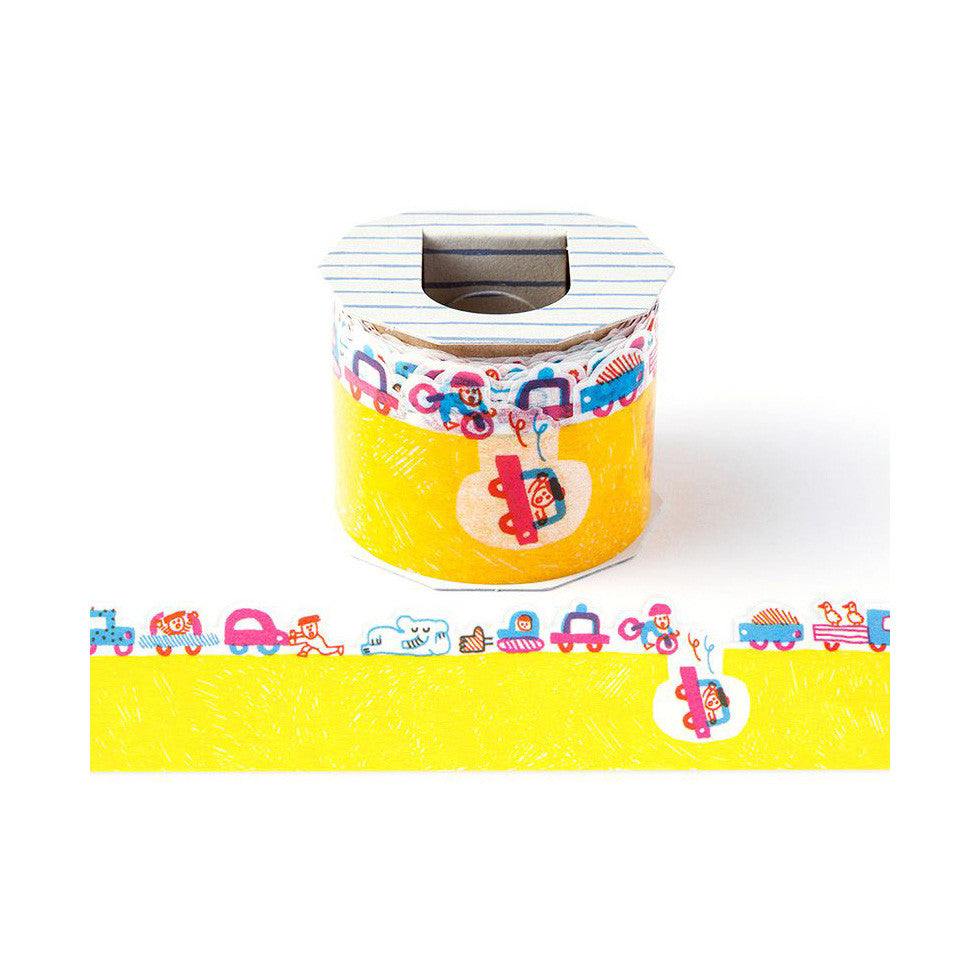 AIUEO Yellow Road Washi Tape (L)