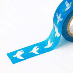 [Discontinued Item] AIUEO Pigeon Washi Tape