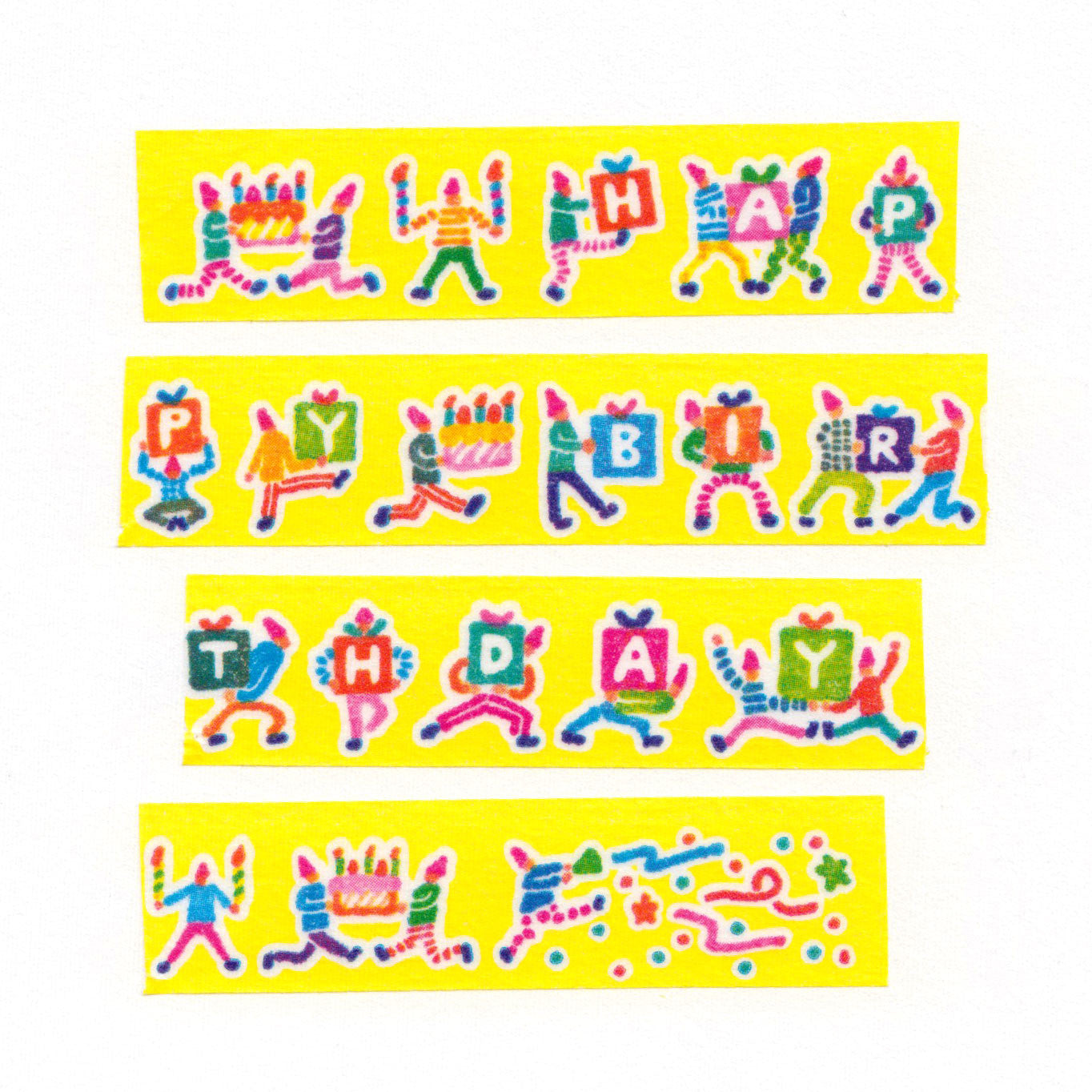 AIUEO Happy Birthday 01 Washi Tape