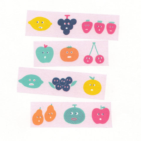 AIUEO Washi Tapes - Fruit Mix