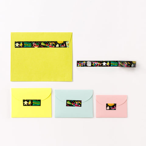 AIUEO Washi Tapes - night party
