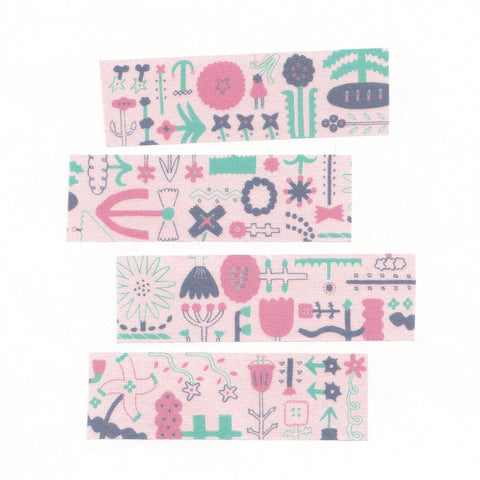 AIUEO Washi Tapes - flower