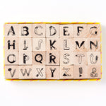 AIUEO Alphabet Rubber Stamps Set