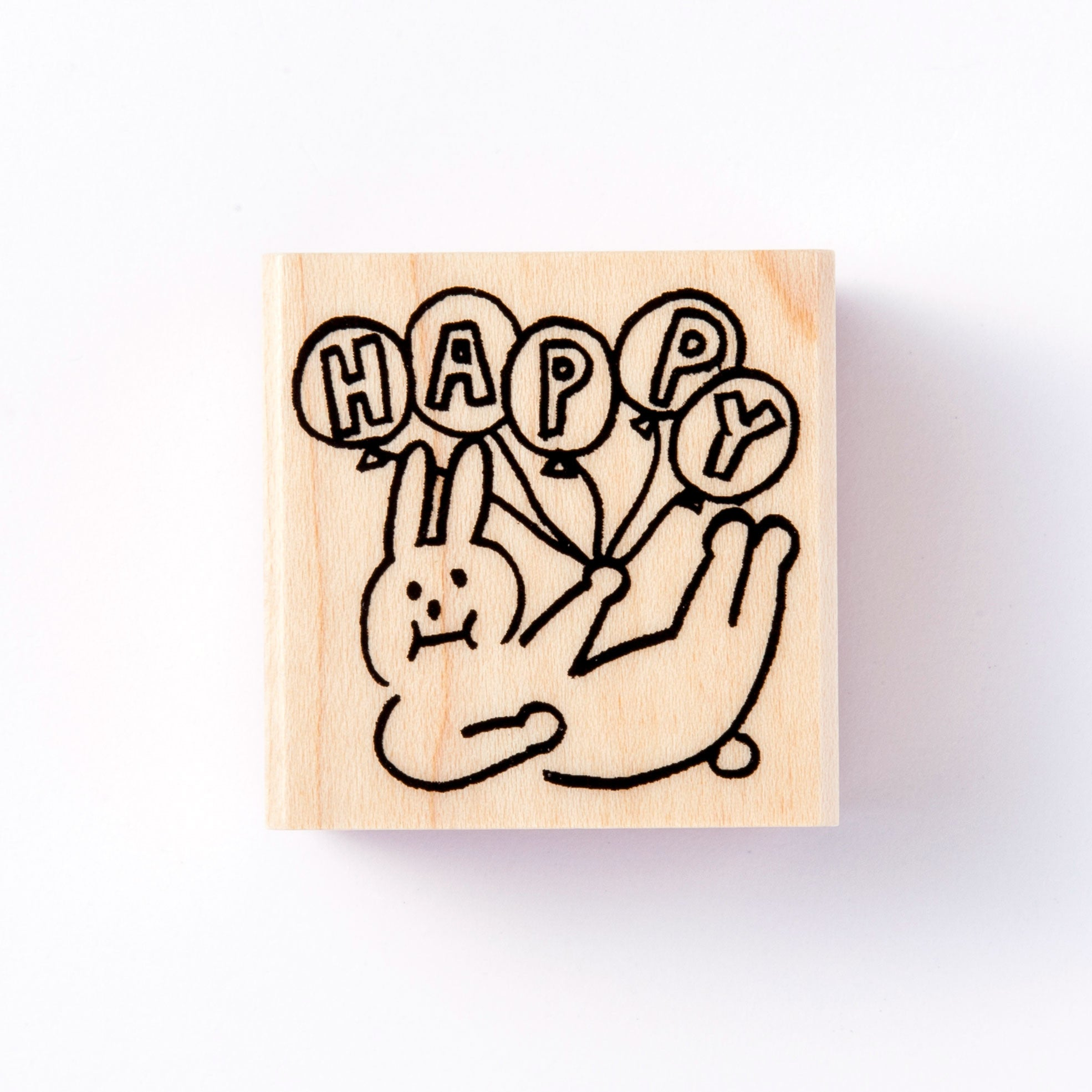 [Discontinued Item] AIUEO Happy Bunny Rubber Stamp