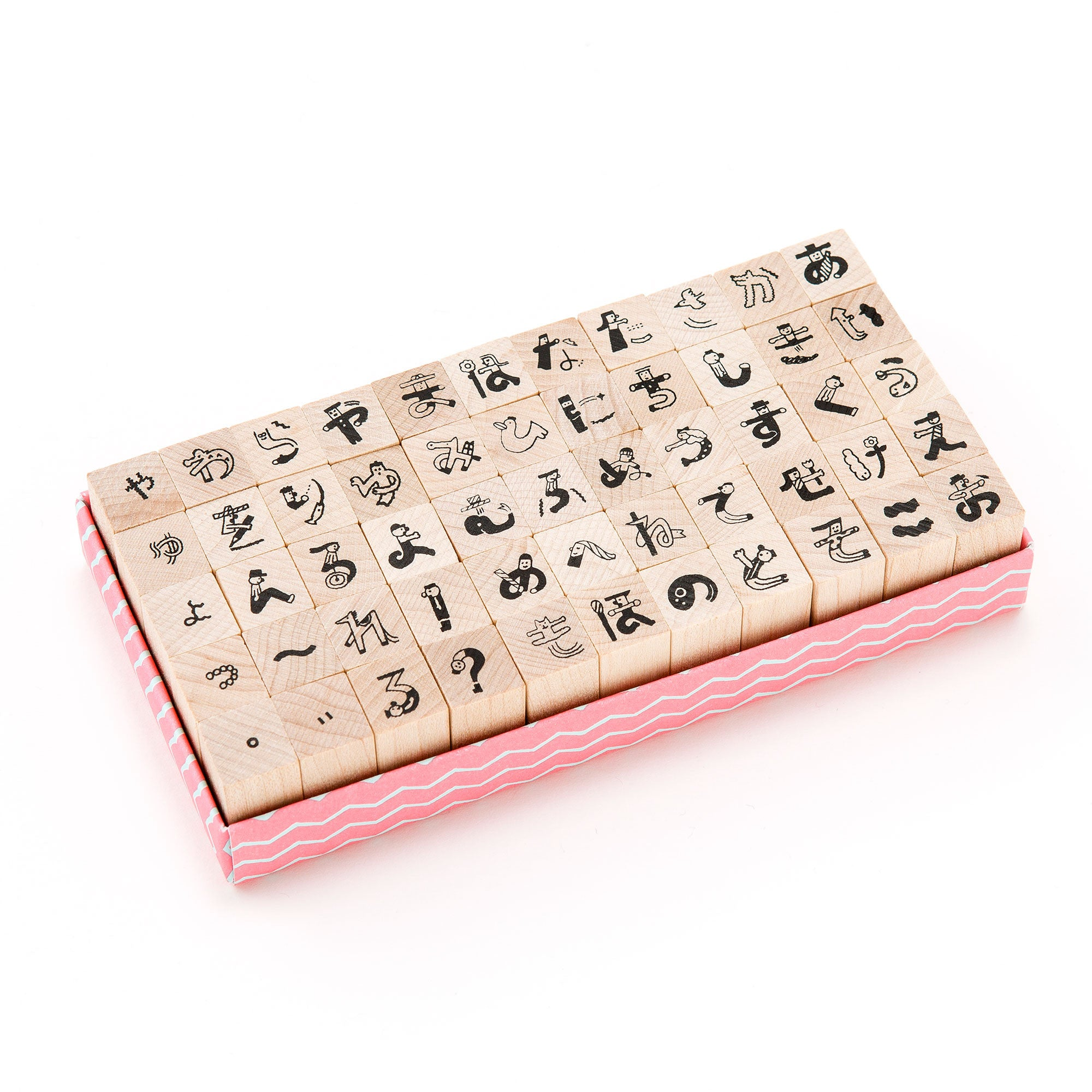 Japanese Character Rubber Stamps Set