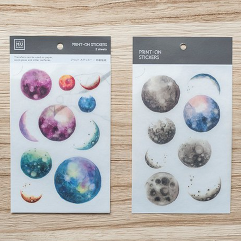 [Discontinued] MU Print-On Sticker - Outer Space Planets