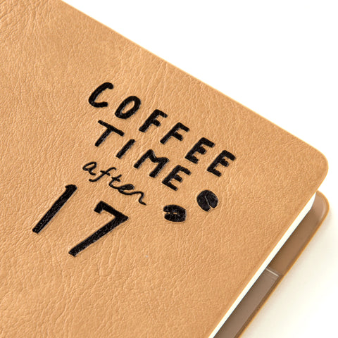 AIUEO NUMBER Weekly Diary Book - COFFEE