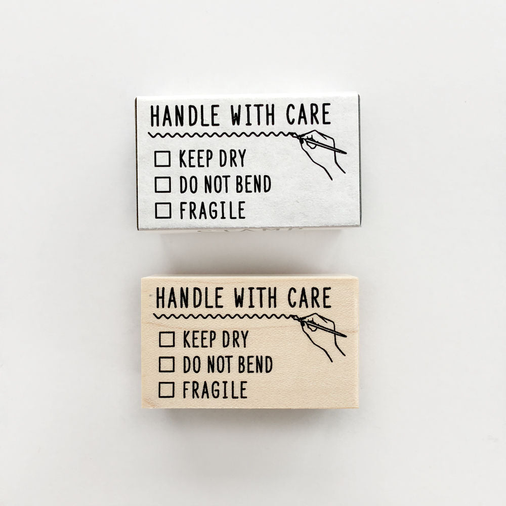 KNOOP Original Rubber Stamp - Handle With Care