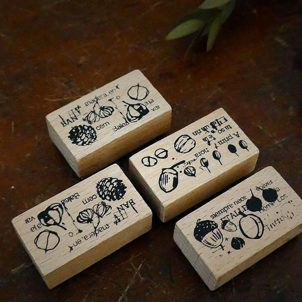 Chamil Garden 5th Anniversary Rubber Stamp Set - Fruit