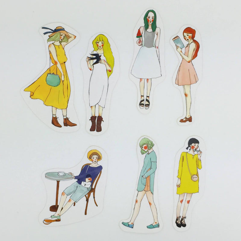 Stylish Girls Stickers Pack - Summer Series