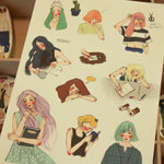 LDV Journalling Girls Sticker Sheet