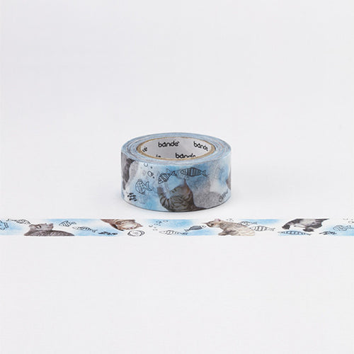Bande Washi Tape - Cat & Fish