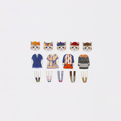 Bande Sticker Washi Tapes - Dress up Cats (Mini)