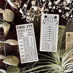 OHS Vintage Ticket Rubber Stamp