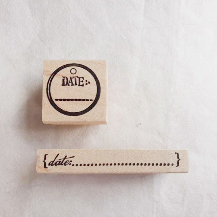 CatslifePress Rubber Stamp - Date