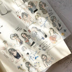 Pion: Print-On Stickers III - Sketching Girls