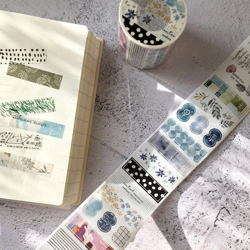 Pion: Die-Cut Washi Sticker Roll - section by section