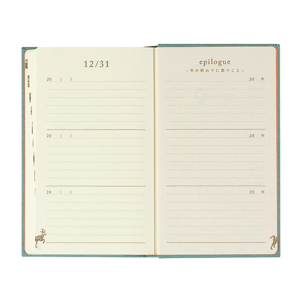 Midori 3 Years Diary Book - Light Blue