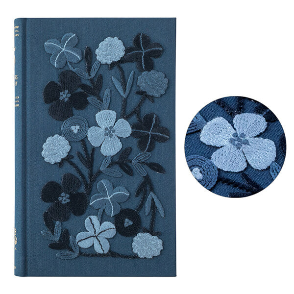 Midori 5 Years Diary Book - Embroidery Flower / Navy