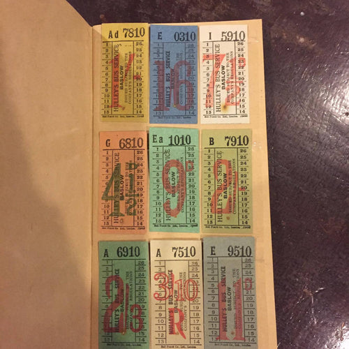 Vintage Ticket Set - Hulleys Bus Services of Baslow