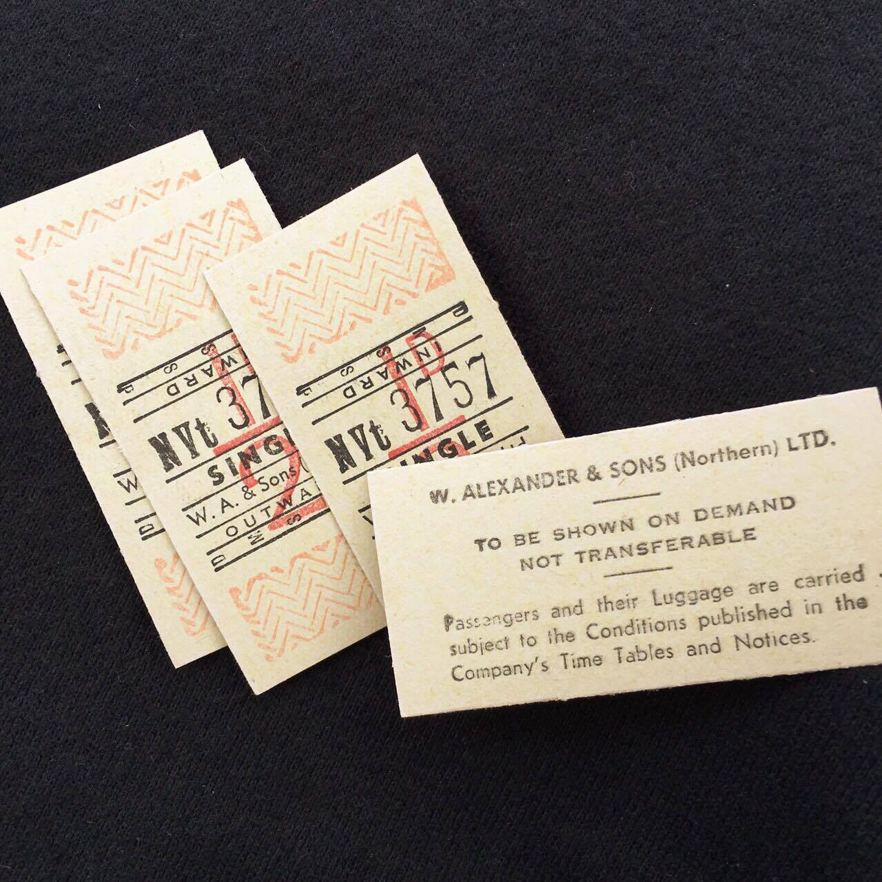 W. Alexander & Sons Single Bus Tickets (5pcs)