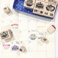AIUEO Anniversary Rubber Stamps Set
