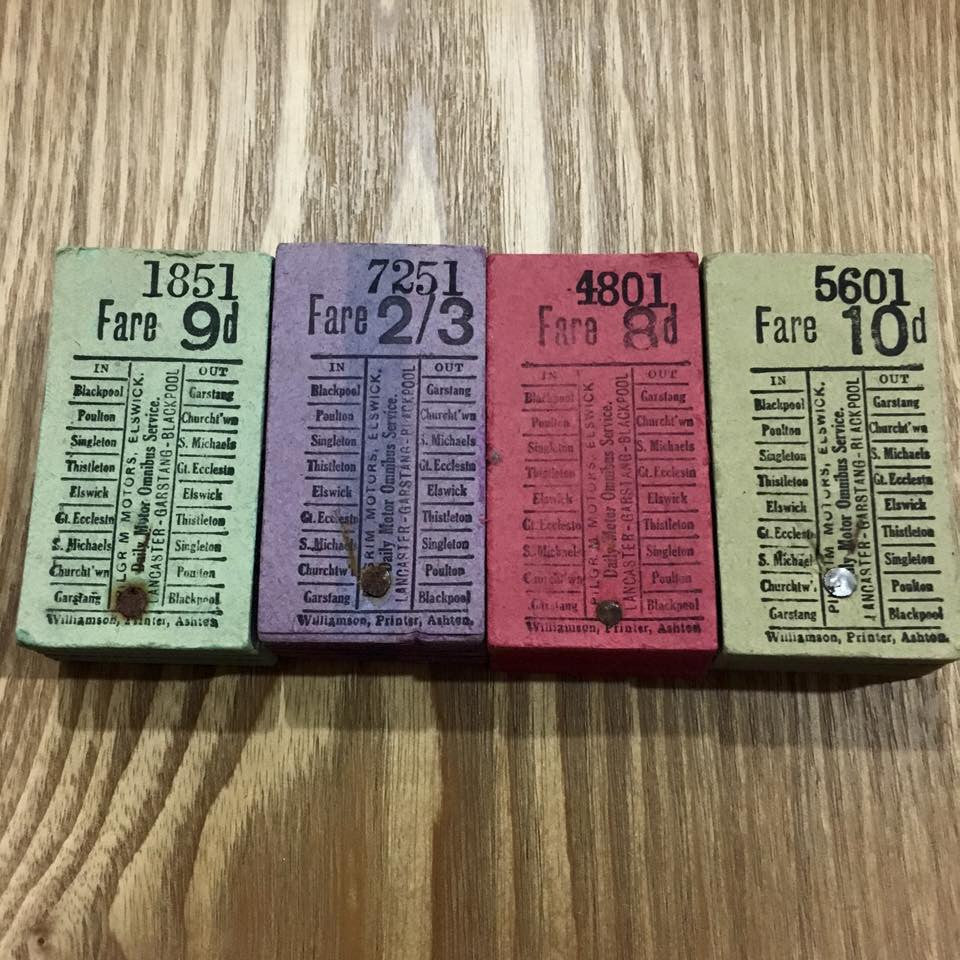 Daily Motor Omnibus Service Bus ticket  - Stack of 50 pieces x4