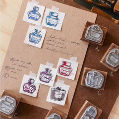 LCN Ink Bottle Mineral Stamps