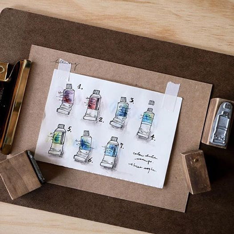 LCN Watercolour Tube Mineral Stamps