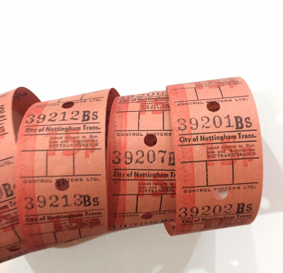 Vintage Bus Tickets Roll - City of Nottingham Trans 15p