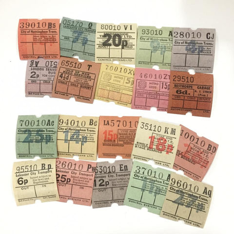 Vintage Bus Tickets (20pcs)
