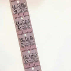 Vintage Bus Tickets Roll - London Transport Buses 2p