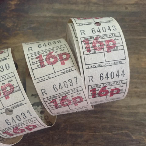 Vintage Bus Tickets Roll - Greater Glasgow P.T.E. 16p