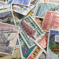 Sea Transports Theme Vintage Stamps Set