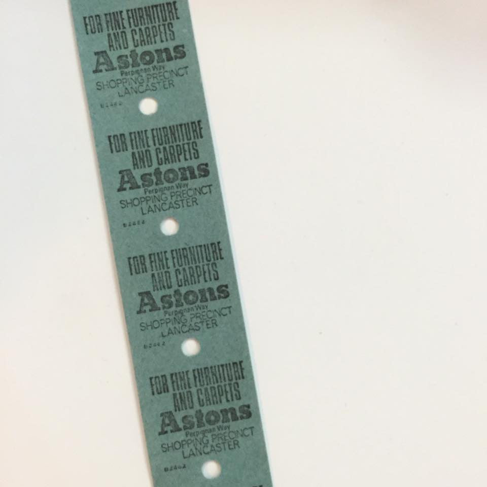 Vintage Bus Tickets Roll - Lancaster City Transport 7p