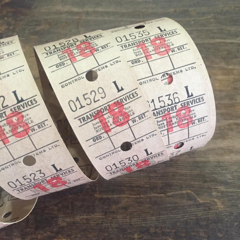 Vintage Bus Tickets Roll - Transport Services 18