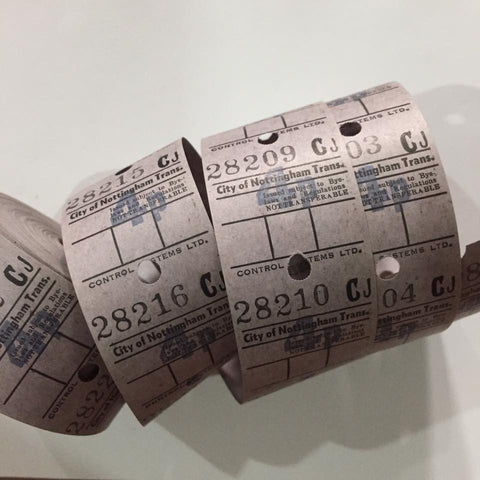 Vintage Bus Tickets Roll - City of Nottingham Trans 4p