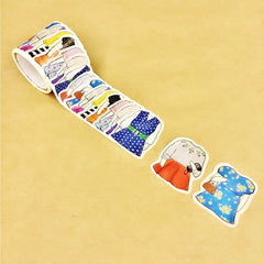 Sticker Washi Tapes Set - Dress Up Dogs