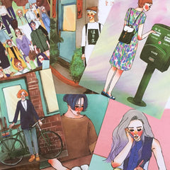 Bungu Girls Series Postcards